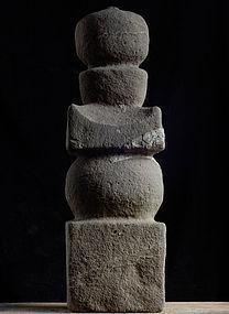 Stone Gorinto 5-Tiered Stupa Pagoda Muromachi 15/16 c.