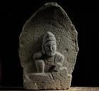 Stone Nyoirin Kannon Bosatsu Folk Sculpture Edo 18/19 c.