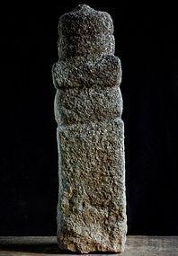 Stone Gorinto 5-Tiered Stupa Granite Edo 17 c.