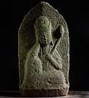 Stone Nyoirin Kannon Bosatsu Bodhisattva Edo 18/19 c.