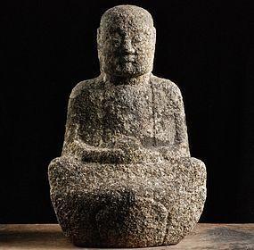 Stone Sculpture Granite Jizo Bosatsu Edo 18 c.