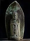 Stone Jizo Bosatsu Bodhisattva Kyowa 4 (1804) Late-Edo