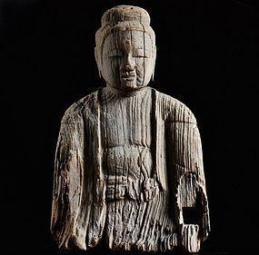 Wooden Buddha Fragment Late-Heian/Nanbokucho 12~14 c.