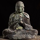 Stone Japanese Sculpture Jizo Bosatsu Edo 18 c.