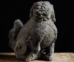 Stone Japanese Koma-Inu Guardian Beast Edo 17 c.