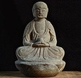 Stone Jizo Bosatsu Bodhisattva Late-Edo 19 c.
