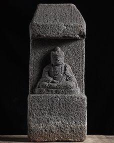Stone Kannon Bosatsu Bodhisattva Momoyama/early-Edo 16/17 c.