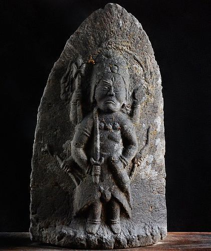 Stone Shomen Kongo Disease Amulet Edo 18 c.