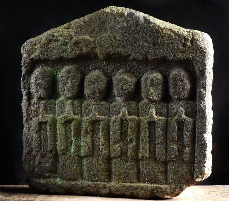 Stone Six-Jizo Bosatsu Bodhisattva Edo 17 c.