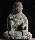 Stone Jizo Bosatsu Sadogashima mid-Edo 18 c.