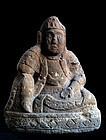 Stone Nyoirin Kannon Bosatsu Mid-Edo 18 c.