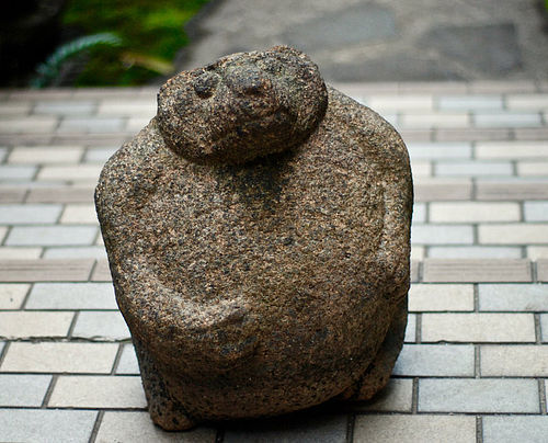 Stone Tanuki Japanese Raccoon Dog Granite Edo 17 c.