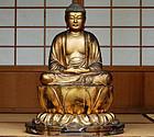 Gilt-Wood Shaka Nyorai Buddha Edo 17 c.