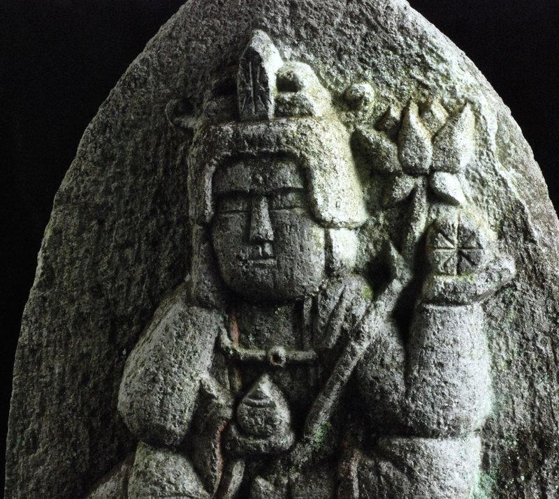 Stone 6-Armed Nyoirin Kannon Bosatsu Meiji ca. 1900