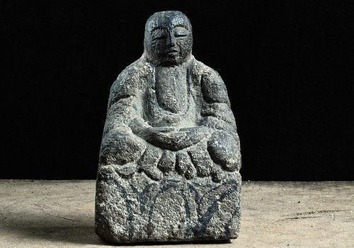 Stone Jizo Bosatsu Bodhisattva Early-Edo 17 c.