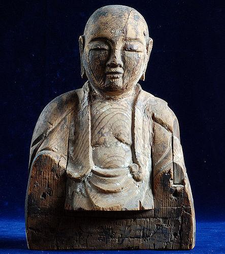 Wooden Shinto Kami Sougyou Hachiman 14~15 c.