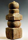 Stone Gorinto 5-Tiered Stupa Pagoda Muromachi/Momoyama 16 c.