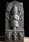 Stone Koshinto Shomen-Kongo Bunka 10 (1813) Late-Edo