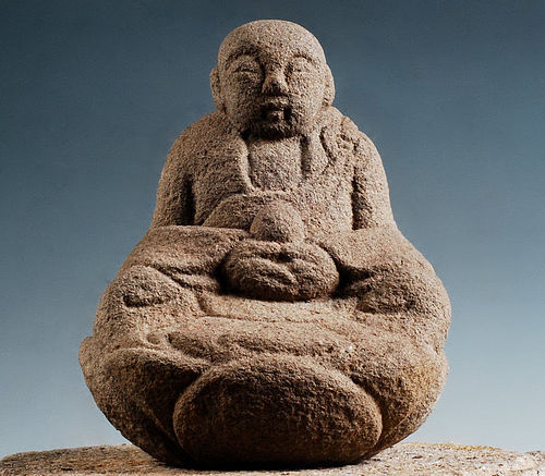 Stone Jizo Bosatsu Edo Period 19 c.