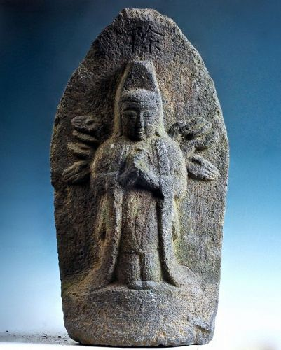 Stone Senju (Thousand-Armed) Kannon Bosatsu mid-Edo 18 c.