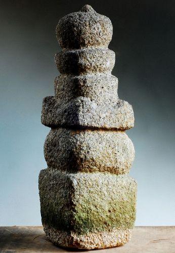 Stone (Granite) Gorinto 5-Tiered Stupa Pagoda Muromachi 15/16 c.