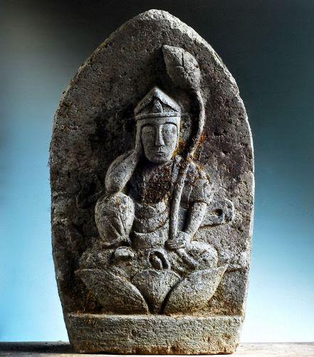 Stone Nyoirin Kannon Bosatsu Bodhisattva Meiji ca. 1900