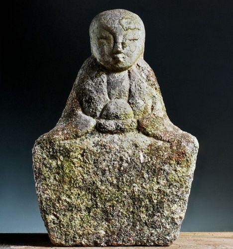 Stone Buddhist Sculpture Jizo Bosatsu Bodhisattva Edo 17/18 c.