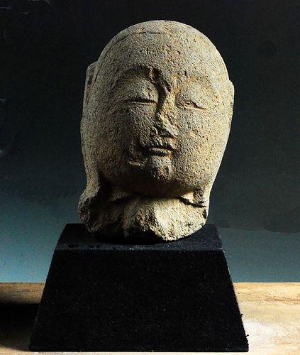 Stone head bust butto Jizo Bosatsu 17 c.