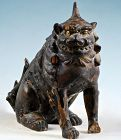 Wooden Koma-Inu Korean Dog Guardian Beast Early-Edo 17 c.
