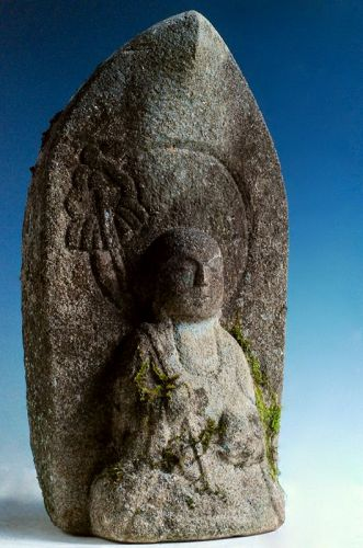 Stone Seated Jizo Bosatsu Granite Late-Edo 19 c.