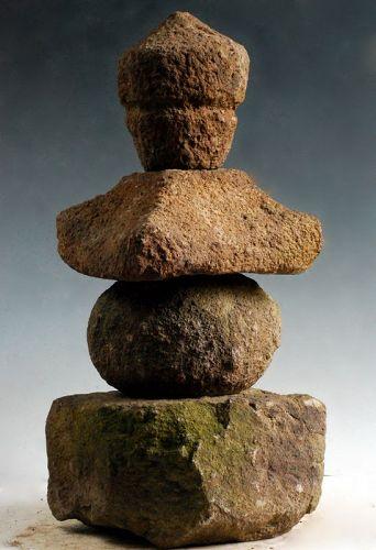 Stone Gorinto 5-Tiered Stupa Pagoda Late-Muromachi ca. 1550