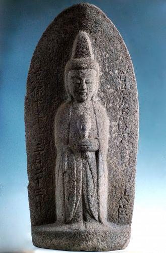 Stone Sho-Kannon Bosatsu Kyoho 10 (1725) mid-Edo