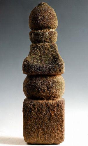 Stone Gorinto 5-Tiered Stupa Pagoda Momoyama/early-Edo ca. 1600