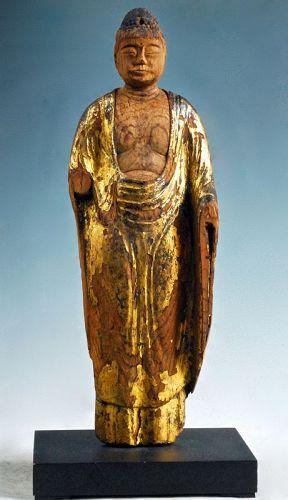 Gilt-Wood Nyorai Buddha late-Heian Period 12 c.