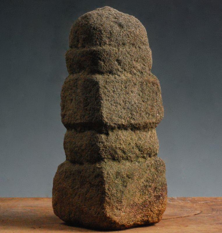 Stone Sculpture Gorinto 5-Tiered Stupa Pagoda Early-Edo 17 c.