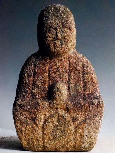 Stone (Granite) Jizo Bosatsu Bodhisattva Mid-Edo 17/18 c.