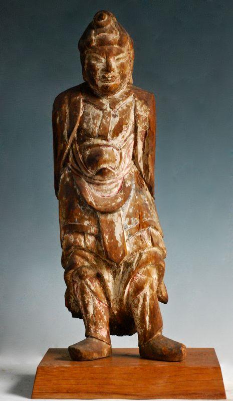 Wooden Indara Taisho Juni-Shinsho Heavenly General Kamakura~Muromachi