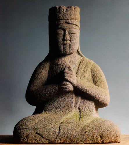 Stone Dai-Nichi Nyorai Buddha Vairocana Anei 3 (1774) Mid-Edo Period