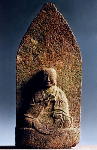 Stone Kukai Kobo Daishi Shingon late-Edo ca. 1850