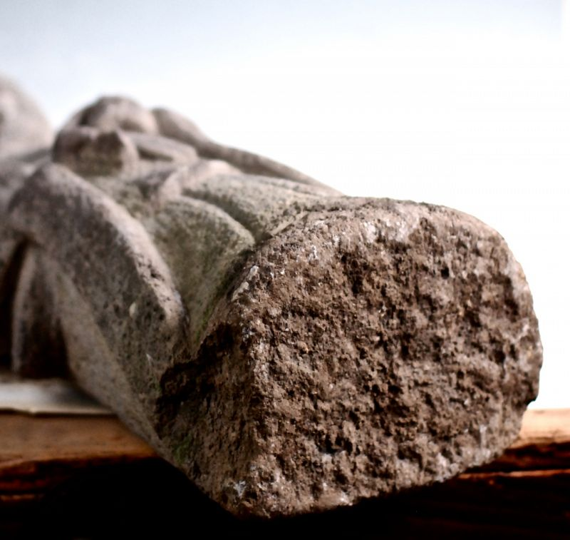 Stone Standing Sho-Kannon Bosatsu Bodhisattva Mid-Edo 18th c.