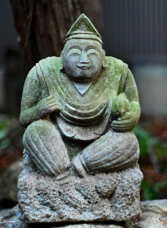 Stone Ebisu Shichifukujin 7 lucky gods Meiji Era ca. 1900