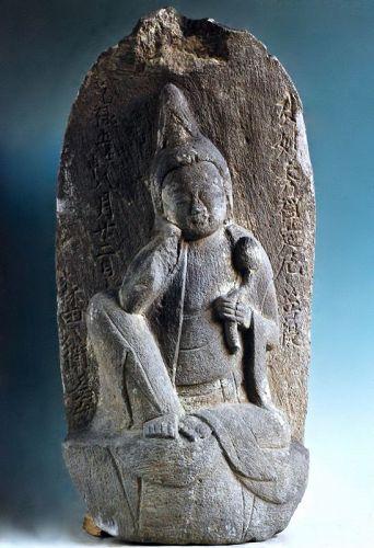 Stone Nyoirin Kannon Bosatsu Bodhisattva Genroku 5 (1692) Edo Period