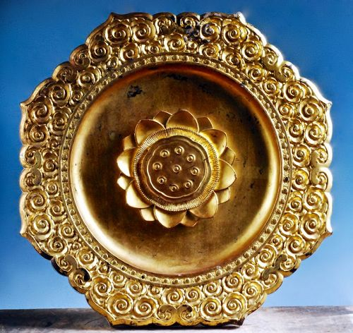 Gilt-Wood Tengai Buddhist Canopy Lotus Motif Late-Edo 19 c.