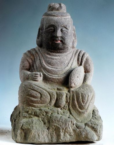 Stone Ebisu Shichifukujin 7 Lucky Gods Late-Edo ca. 1850