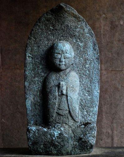 Stone Jizo Bosatsu Bodhisattva Mid- to Late-Edo Period ca. 1800