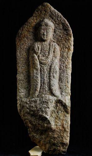 Stone (Granite) Amida Nyorai Buddha Muromachi/Momoyama 16 c.