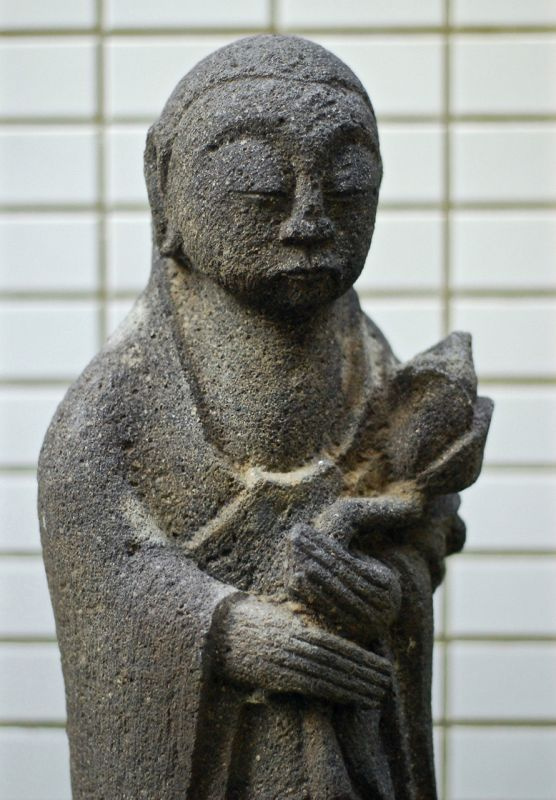 Stone Standing Jizo Bosatsu Shotoku 7 (1717) Mid-Edo Period
