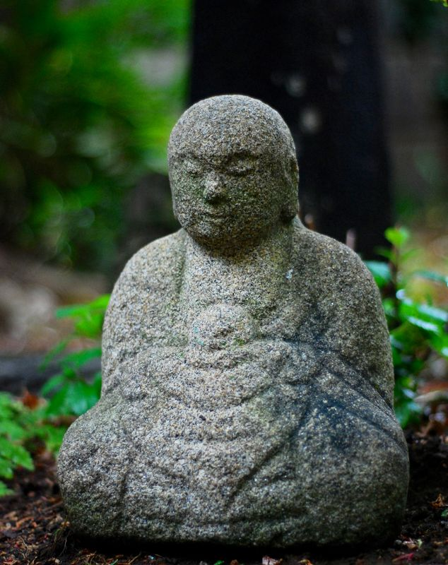 Stone (Granite) Seated Jizo Bosatsu Bodhisattva Edo Period ca. 1775