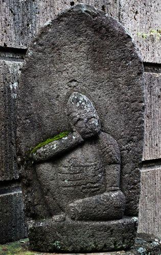 Stone Nyoirin Kannon Bosatsu Mid-Edo Period ca. 1700