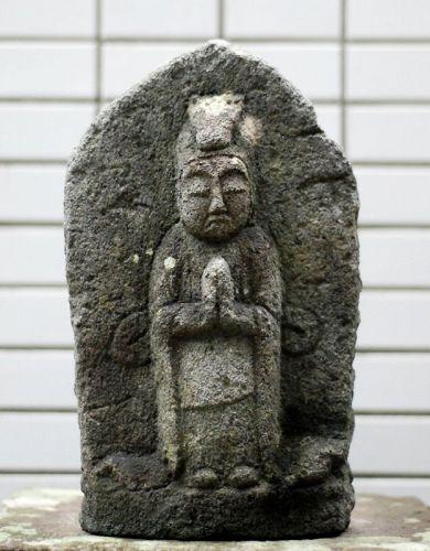 Stone Bato (Horse-Head) Kannon Bosatsu Late-Edo/Early-Meiji ca. 1875